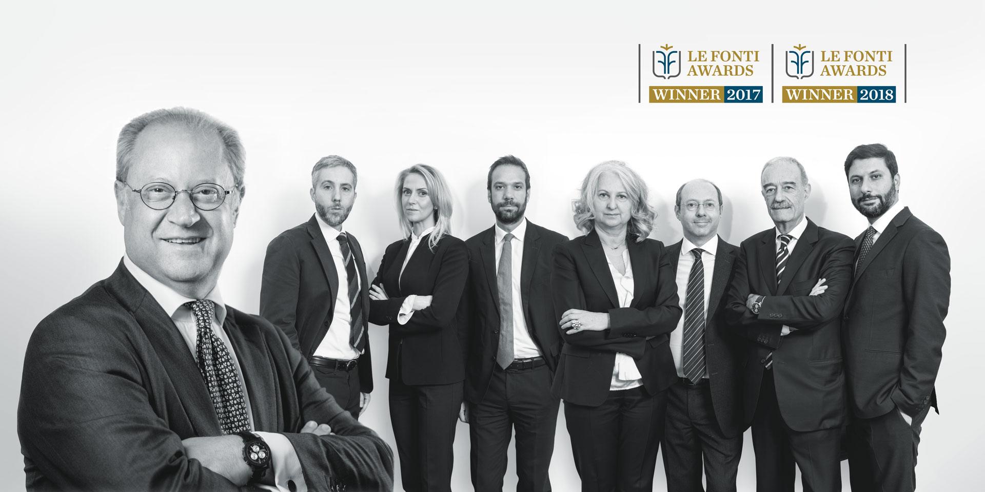 Piselli and Partners studio legale contrattualistica pubblica Roma le fonti award